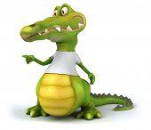 pic of crocodiles  - Crocodile with a white tshirt - JPG