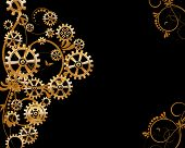 pic of steampunk  - Abstract mechanical background with floral elements - JPG