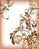 picture of steampunk  - Abstract mechanical background with floral elements - JPG