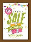 stock photo of eid festival celebration  - Stylish limited time sale poster - JPG