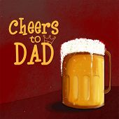 image of special day  - Celebrations for Fathers Day with full of beer mug and text  - JPG