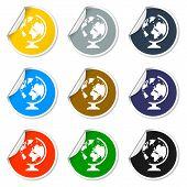foto of geography  - geography school earth globe web icon - JPG