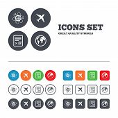 image of boarding pass  - Airplane icons - JPG