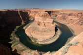 stock photo of horseshoe  - Horseshoe Bend is a horseshoe - JPG