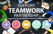 pic of partnership  - Support Teamwork Partnership Group Collaboration Concept - JPG