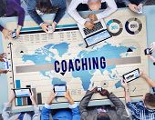 stock photo of role model  - Coaching Mentoring Role Model Learning Concept - JPG
