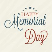 foto of memorial  - illustration of a colorful stylish text for Happy Memorial Day - JPG