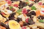 stock photo of dry fruit  - pile of dried fruit as part of the food - JPG