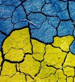 image of kiev  - Ukrainian flag patriotic style colors - JPG