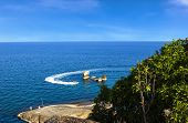 stock photo of grandfather  - View point at grandfather grandmother rock Samui island - JPG