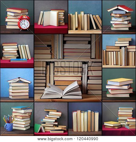 Collage From Pictures With Books