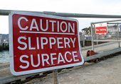 Sign, Caution Slippery Surface