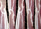 Dry-Cured Streaky Bacon, before being grilled