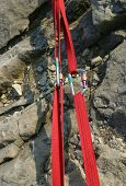 Climbing Slings and Karabiners under tension