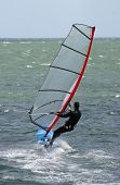 Windsurfer at speed