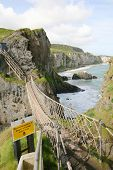 Rope bridge at Carrick-a-Rede, Antrim, Northern Ireland