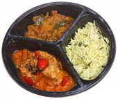 Indian curry microwavable meal