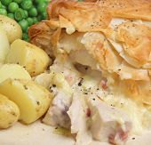Chicken and bacon pie