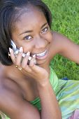 Menina de telefone