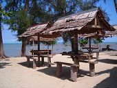 Rustic Huts By The Beach At Bintan, Indonesia