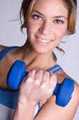 Smiling Workout Woman