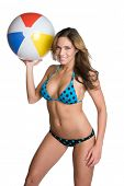 Beach Ball Bikini Girl