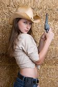 Cowgirl with Gun