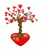 Tree With Many Hearts