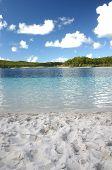 stock photo of mckenzie  - Beautiful blue fresh water Lake Mckenzie - JPG