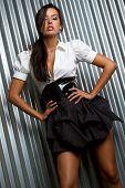 Beautiful young latin fashion model
