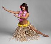 Pretty hawaiian tropical hula dancer