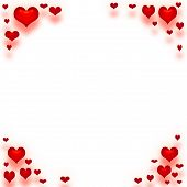 stock photo of valentine heart  - valentine paper framed in red hearts art - JPG