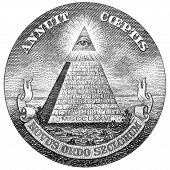 Us One Dollar Bill Pyramid And Eye