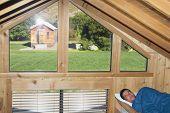 Man sleeping in cabin
