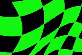 Black And Green Checkered Racing Flag