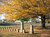 Civil War Cemetary In Fall