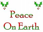Greeting Card Peace On Earth