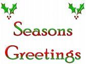 Greeting Card Seasons Greetings