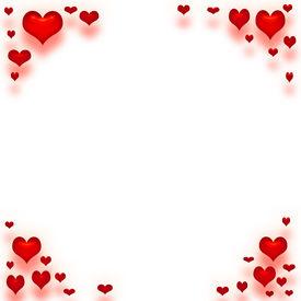 stock photo of valentine heart  - valentine paper framed in red hearts art - JPG