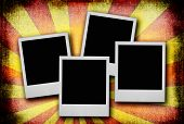 Photo Frames Against Dirty Background #2