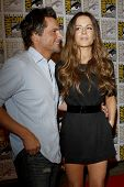 SAN DIEGO - JUL 22:  Len Wiseman, Kate Beckinsale at the 2011 Comic-Con Convention - Day 2 at San Di