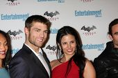 LOS ANGELES - JUL 23:  Liam McIntyre, Katrina Law arriving at the EW Comic-con Party 2011 at EW Comi