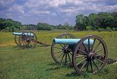 image of yanks  - Civil War cannon at the Antietam National Battlefield American Civil WarMaryland - JPG