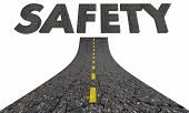 Safety Road Word Travel Transportation Avoid Danger 3d Illustration poster