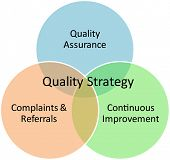 Quality strategy business diagram management concept chart illustration Quality strategy business di