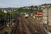 Railway In Town Siegen, Germany