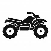 Ride Quad Bike Icon. Simple Illustration Of Ride Quad Bike Vector Icon For Web Design Isolated On Wh poster