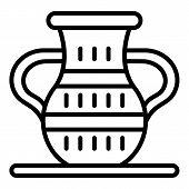 Egyptian Vase Icon. Outline Egyptian Vase Vector Icon For Web Design Isolated On White Background poster