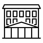 College Building Icon. Outline College Building Vector Icon For Web Design Isolated On White Backgro poster