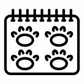 Vet Calendar Icon. Outline Vet Calendar Vector Icon For Web Design Isolated On White Background poster